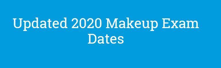 2020 AP Makeup Exam Schedule