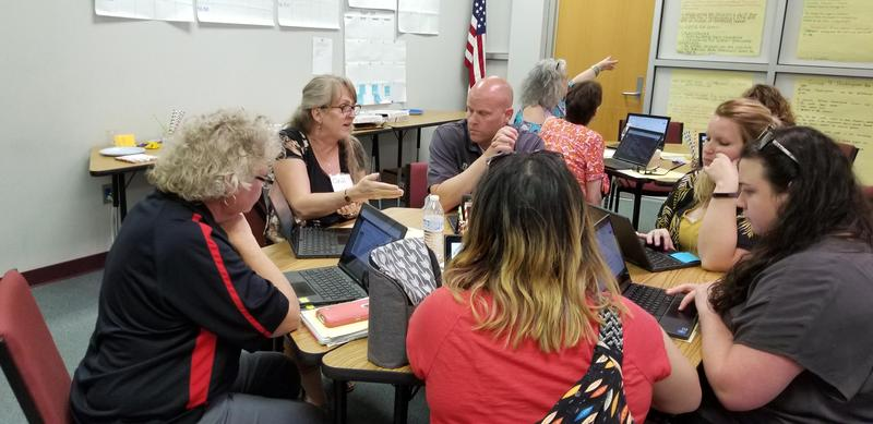 SCS English Teachers Participate in District Collaboration Event Featured Photo