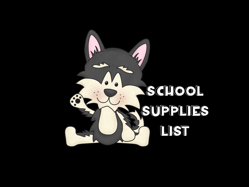 Wolfie saying School supplies list