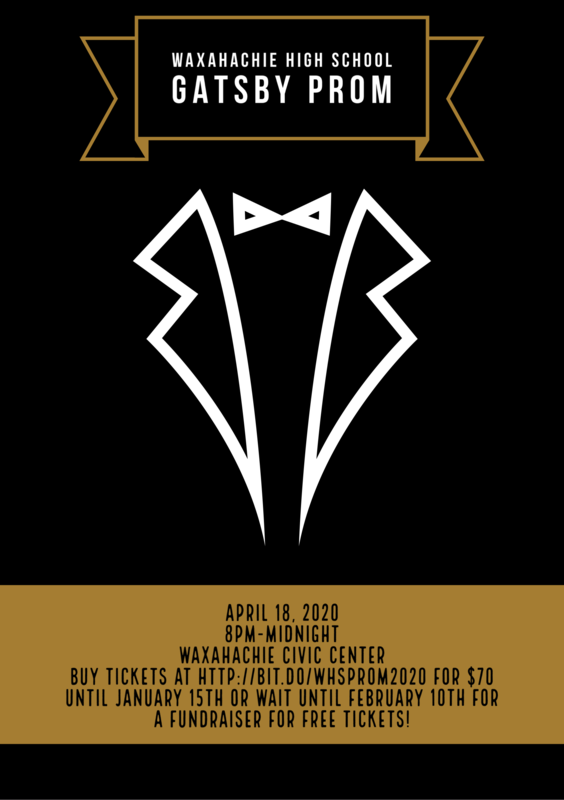 Prom is April 18 at 8 pm at the Civic Center