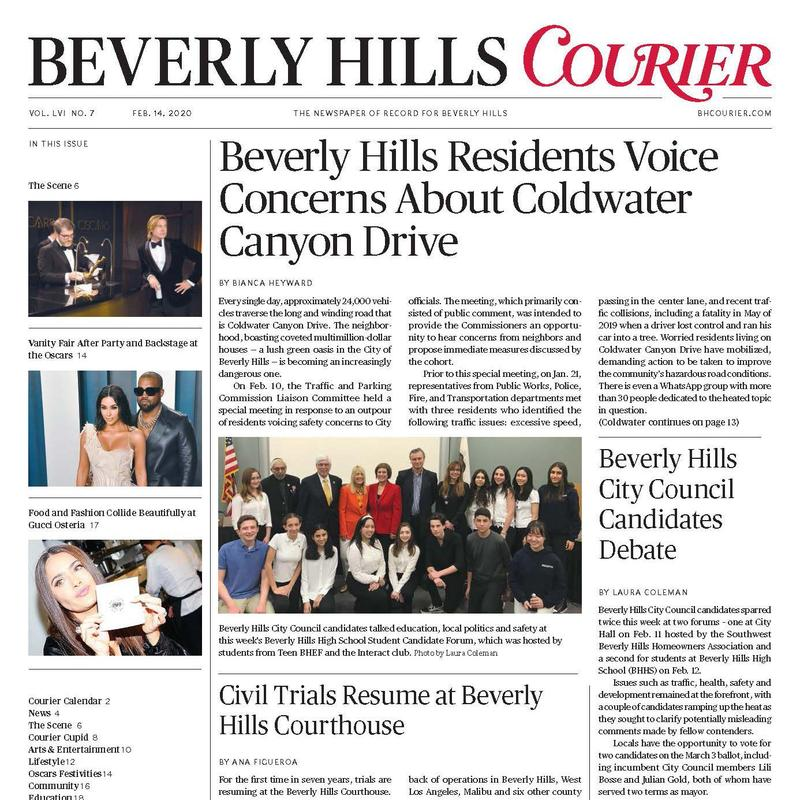 teen bhef candidates forum front page on the bh courier