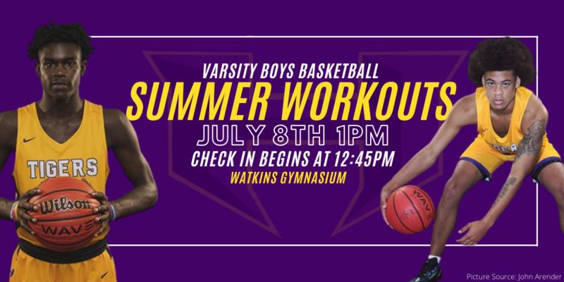 2020-2021 Varsity Boys Basketball Summer Workouts Featured Photo