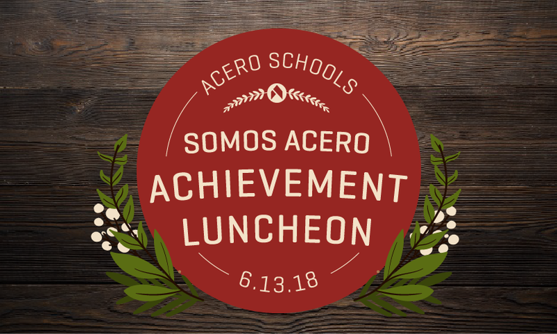 Luncheon text, red circle on wood background with flowers