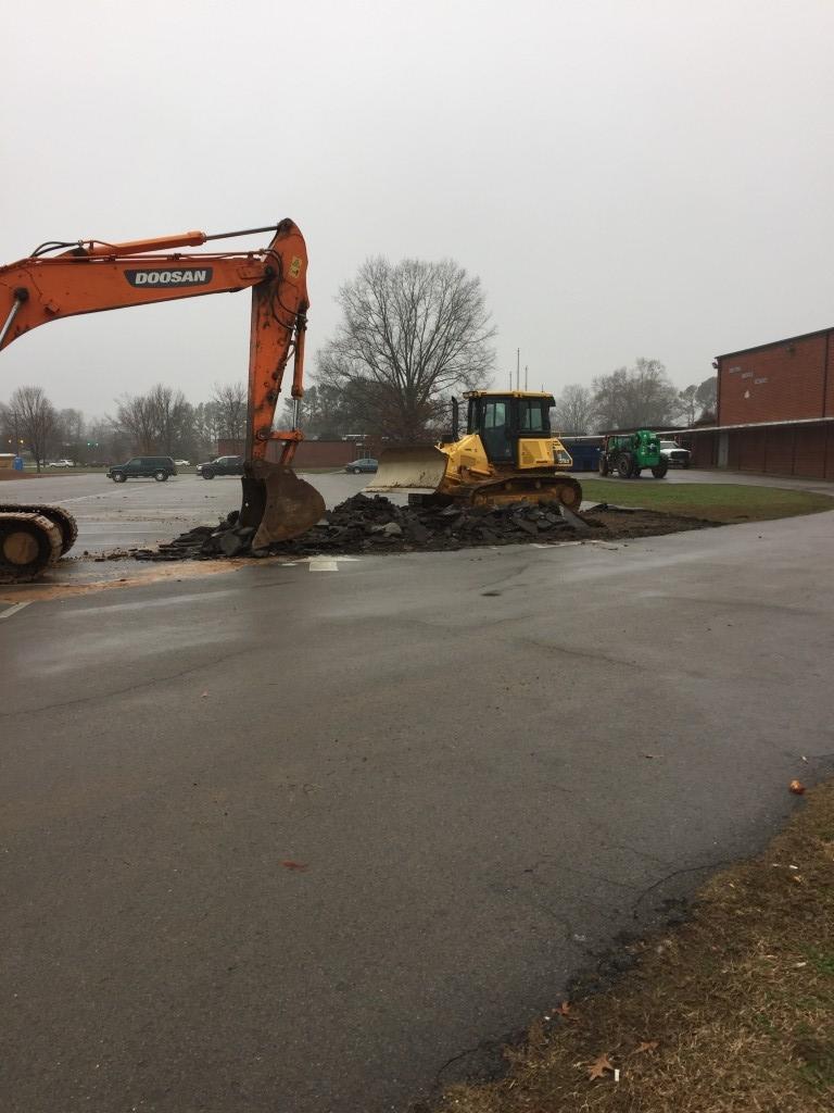 front parking construction