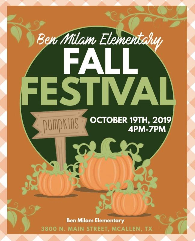 Milam Fall Festival, Saturday, October 19, 2019, 4:00-7:00 p.m.