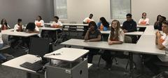 WOS ECHS students attend a class at Lamar.