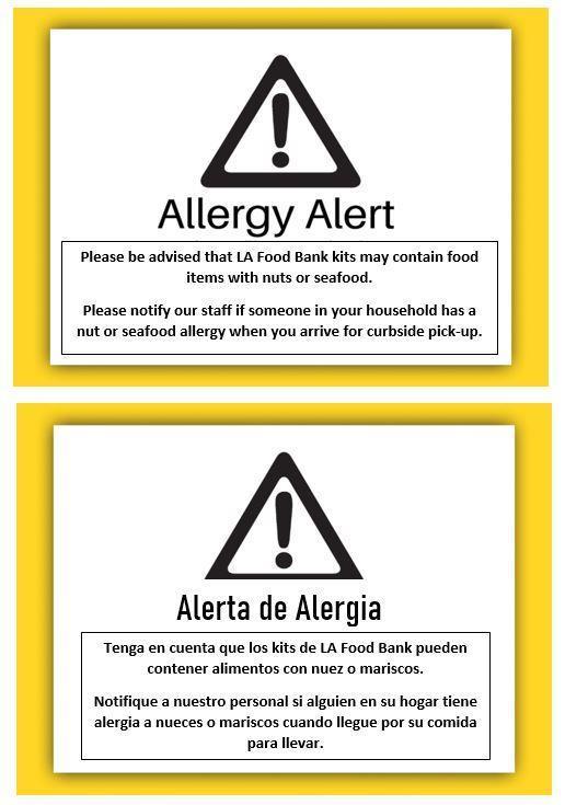 Allergy Alert - Alerta de Alergia