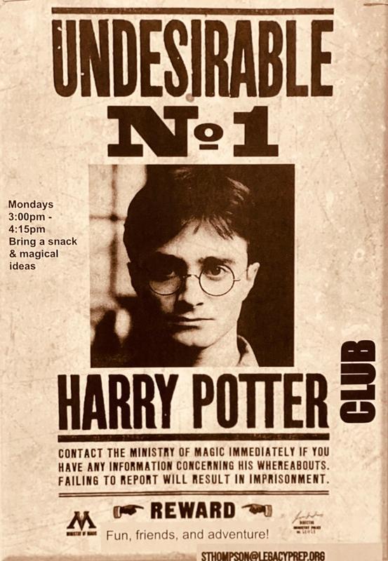 harry potter poster LPA best charter school in davis county