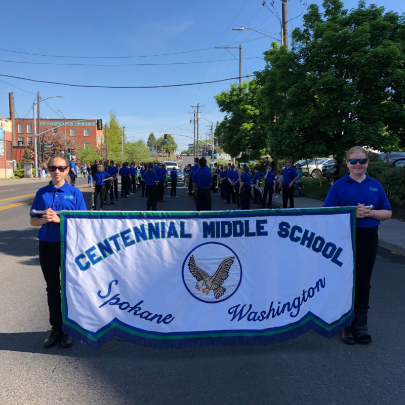 CMS band at Jr. Lilac Parade