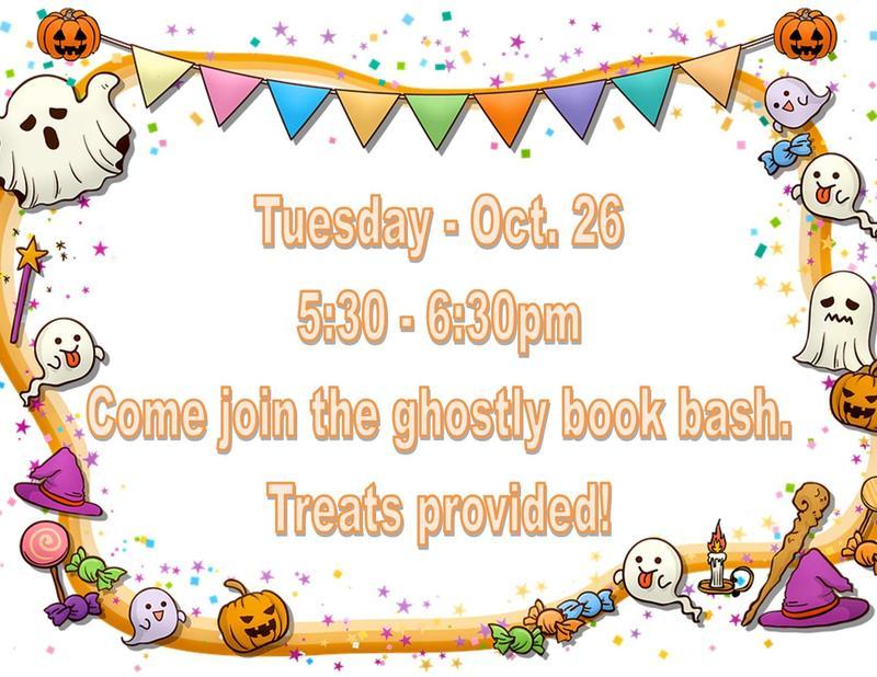 ACE Spooky Book Bash Flyer image