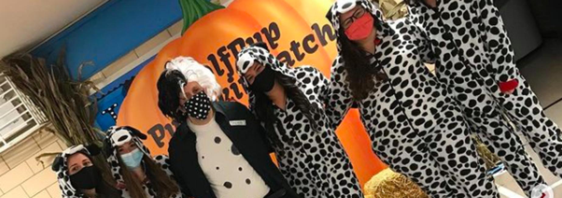 Teachers dressed for halloween