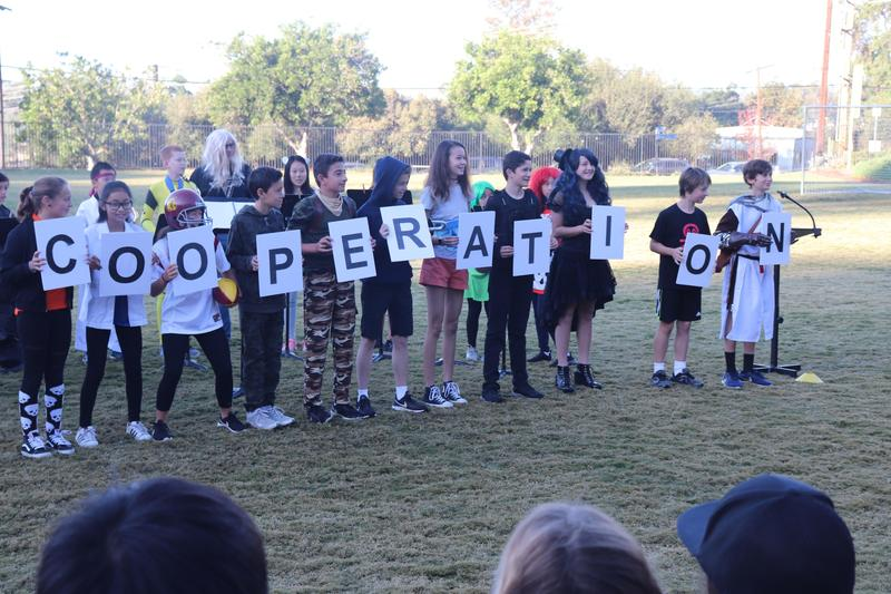 COOPERATION!  Eagle Pride Character Value for November Featured Photo