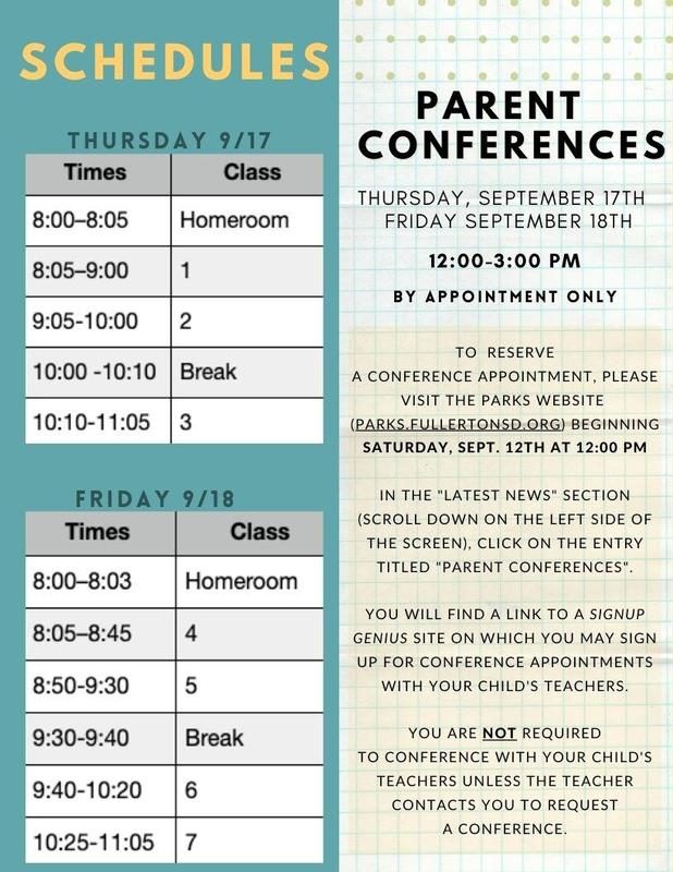 Conference schedule and sign up info
