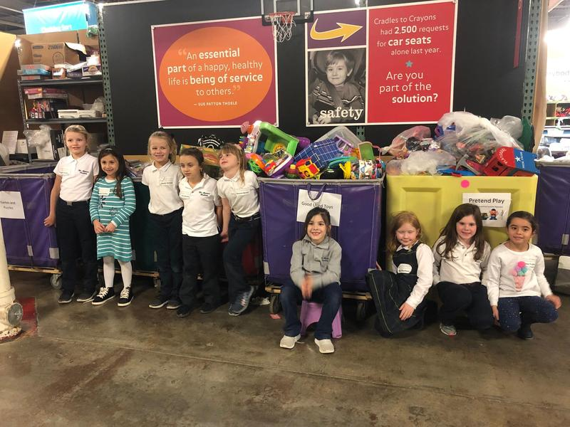 MAA'S Daisy Troop Volunteers at Cradles to Crayons Featured Photo