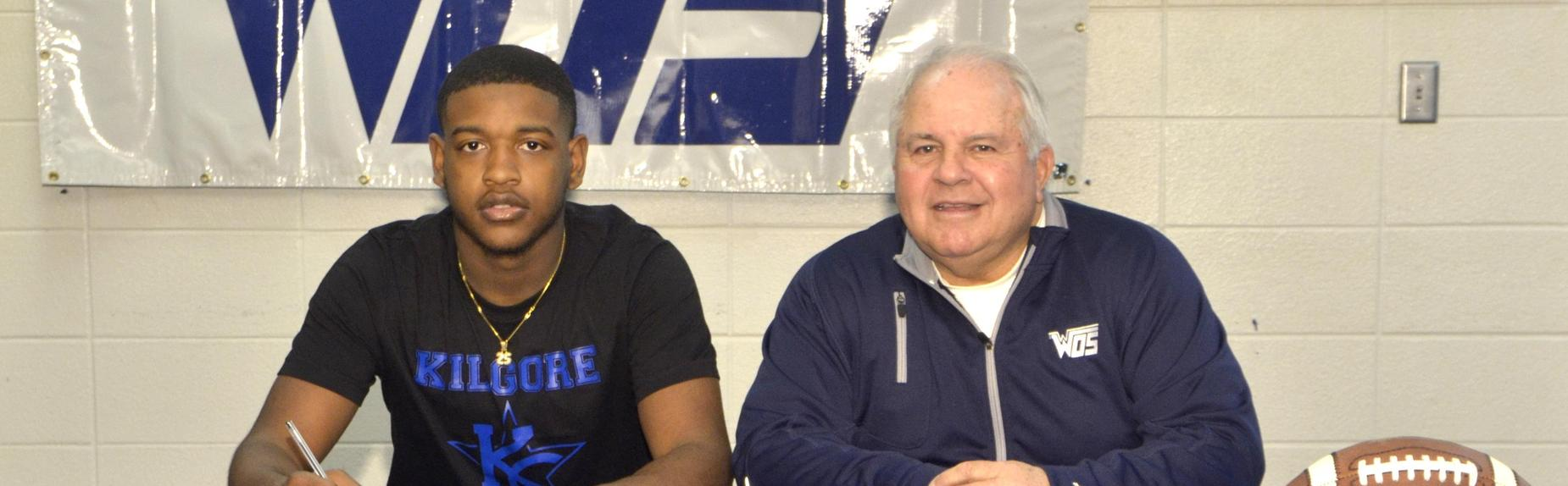 Teshaun Teel signed his Letter of Intent today with Kilgore College