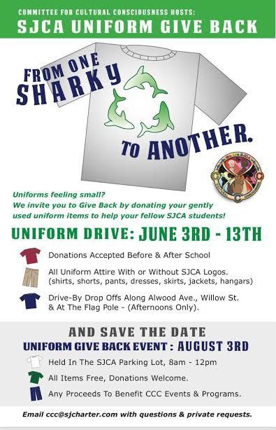 SJCA Uniform Give Back Featured Photo