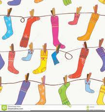 socks on a clothesline