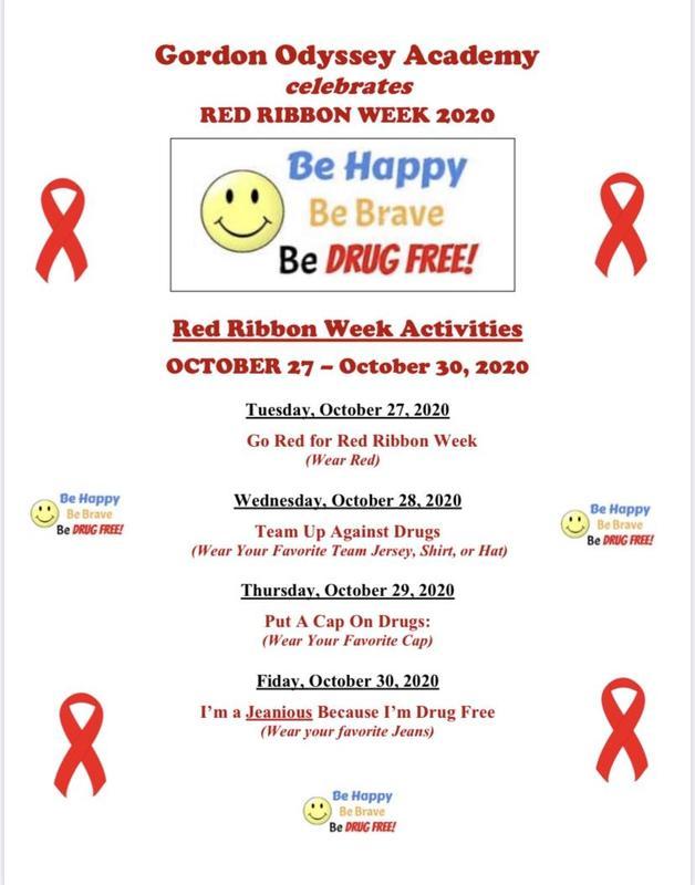 2020 Red Ribbon Week Flier
