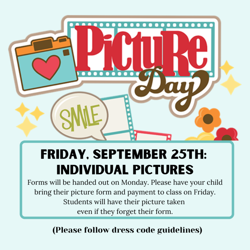 Picture Day is September 25th! Featured Photo