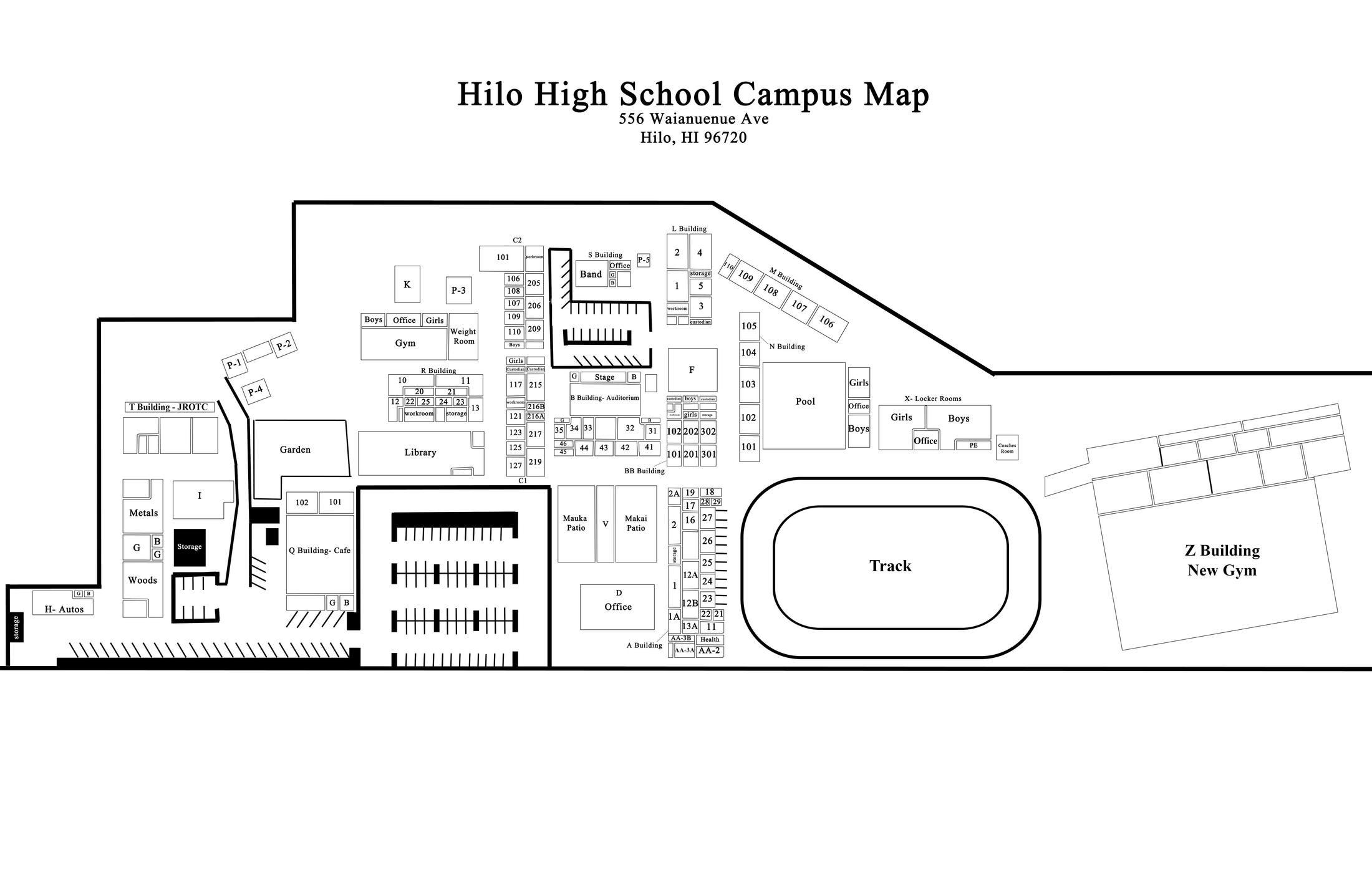 School Campus Map.Campus Map Hilo High School