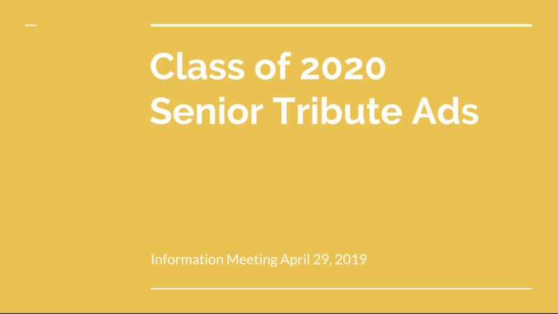 2020 Senior Tribute Ad Appointment Sign Up Featured Photo
