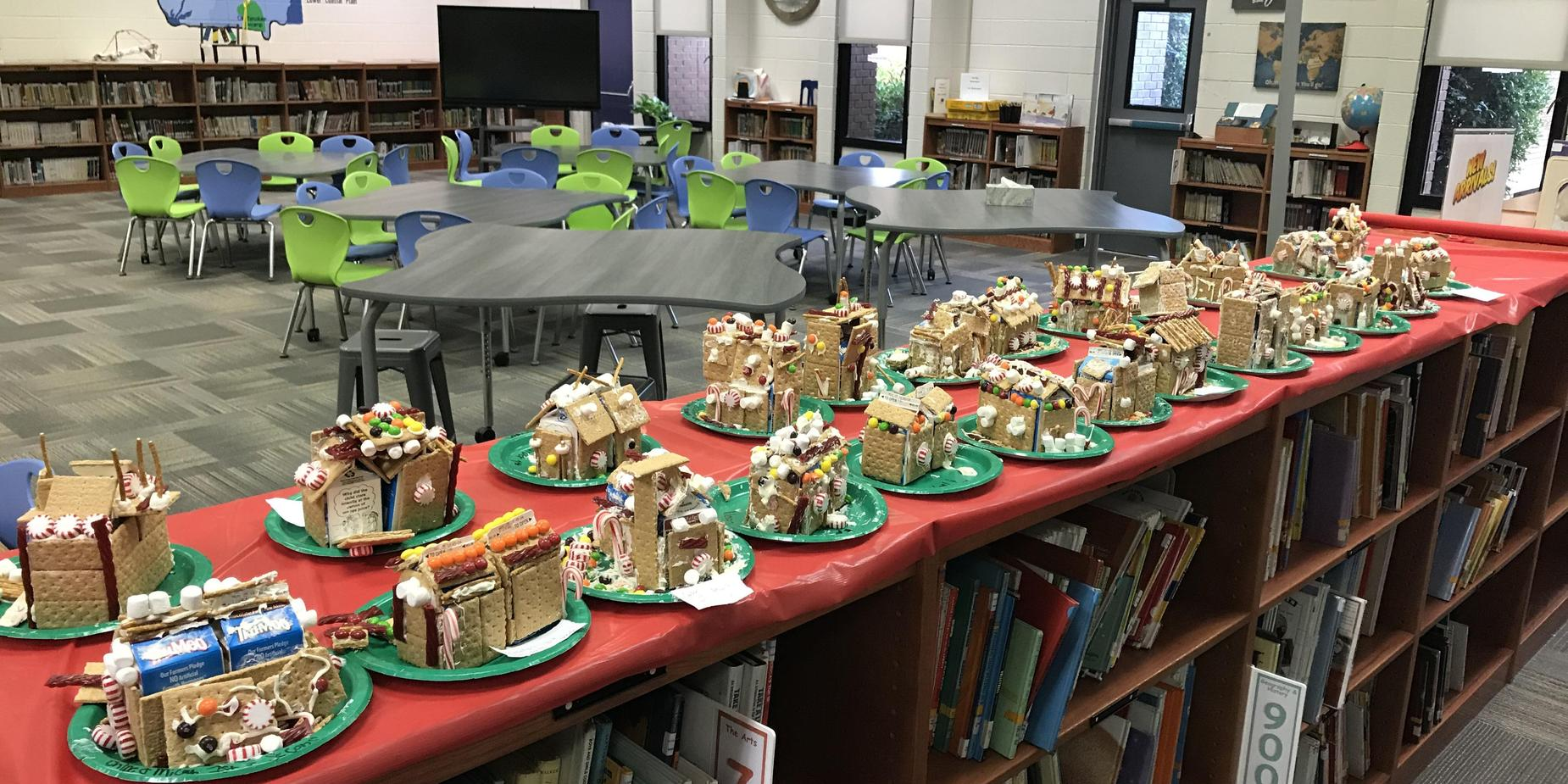 Gingerbread Houses made during the Jingle Mingle!