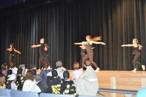 Bensalem High School Dance Group perform on the stage