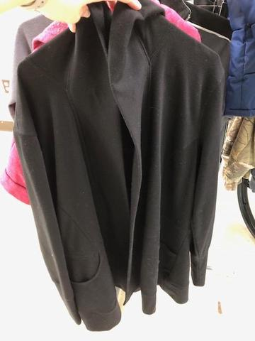 black sweater with pockets