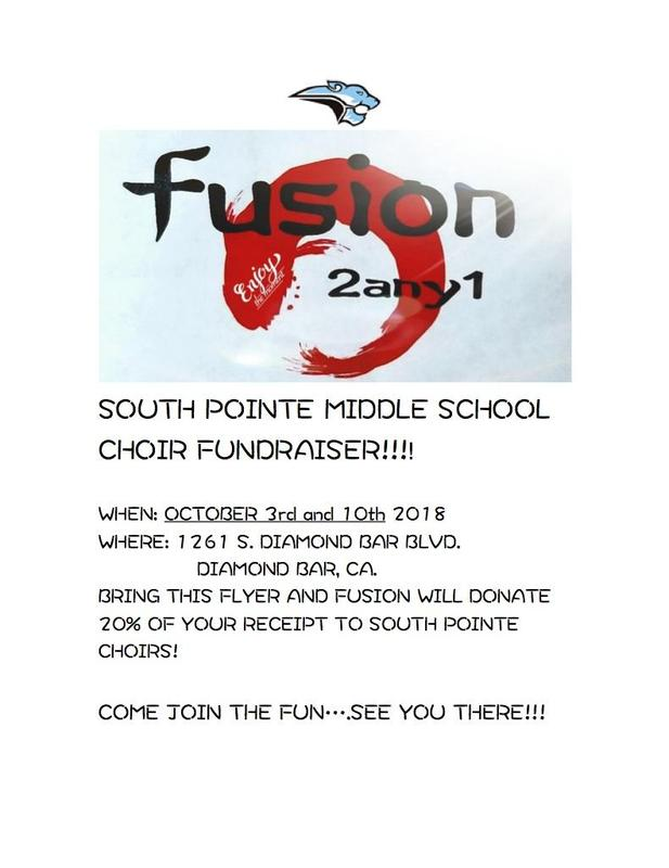 South Pointe Choir Fundraiser ~ Fusion 2any1 Featured Photo