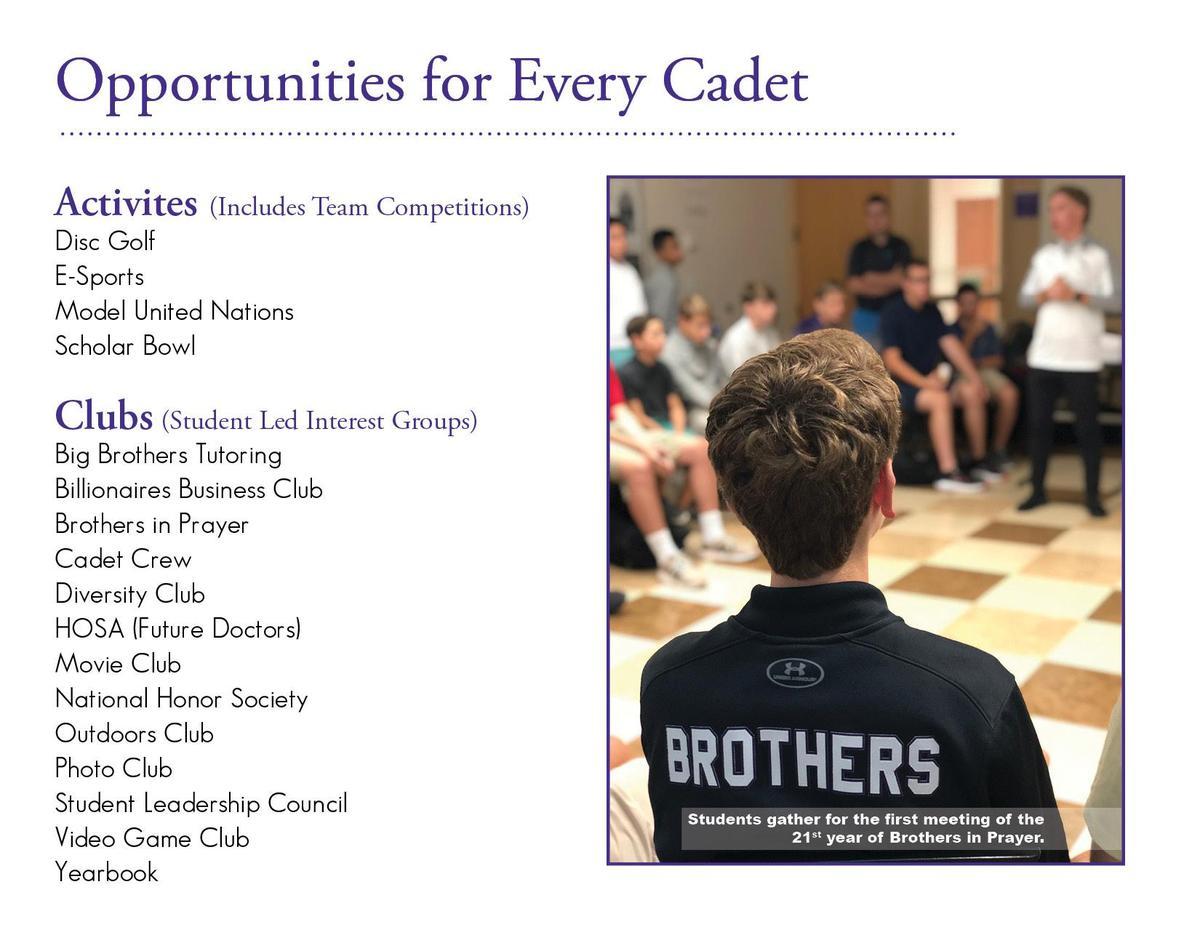 clubs, activities, high school, catholic