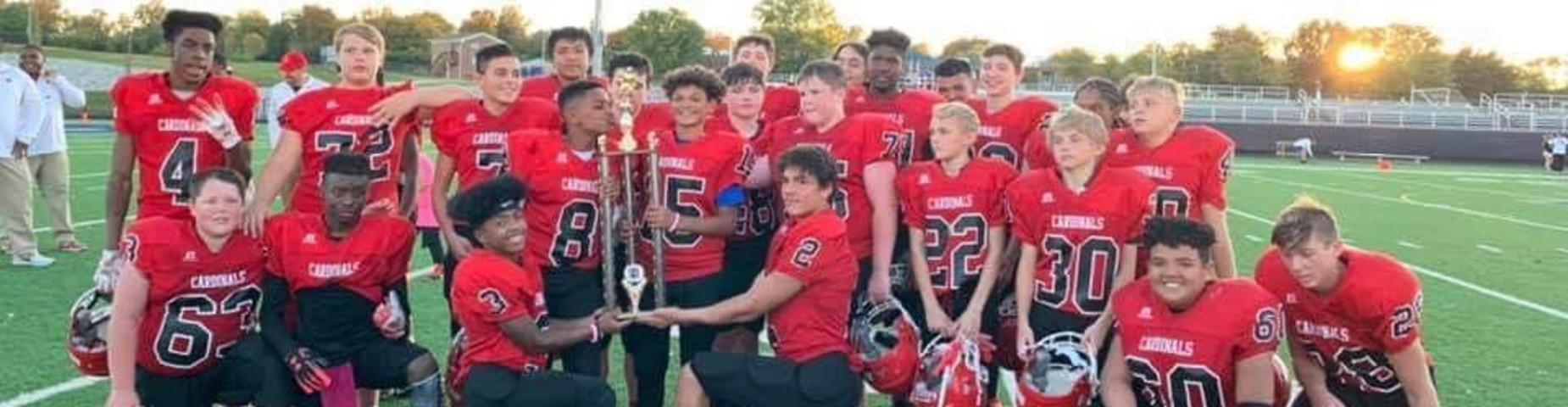 8th Grade Cardinals football players.