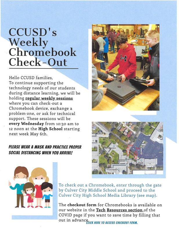 CCUSD Weekly Chromebook Check-Out Featured Photo