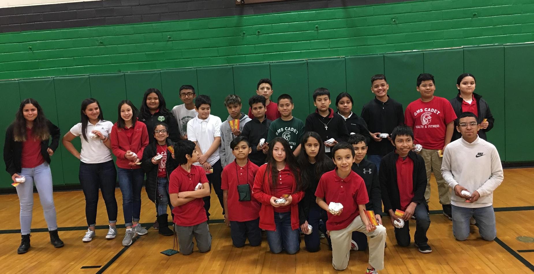 6th Grade Students who had perfect attendance for 1st Quarter