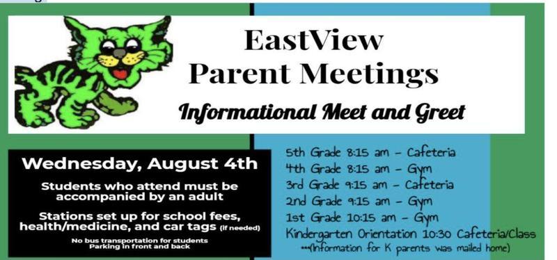 parent meeting schedule