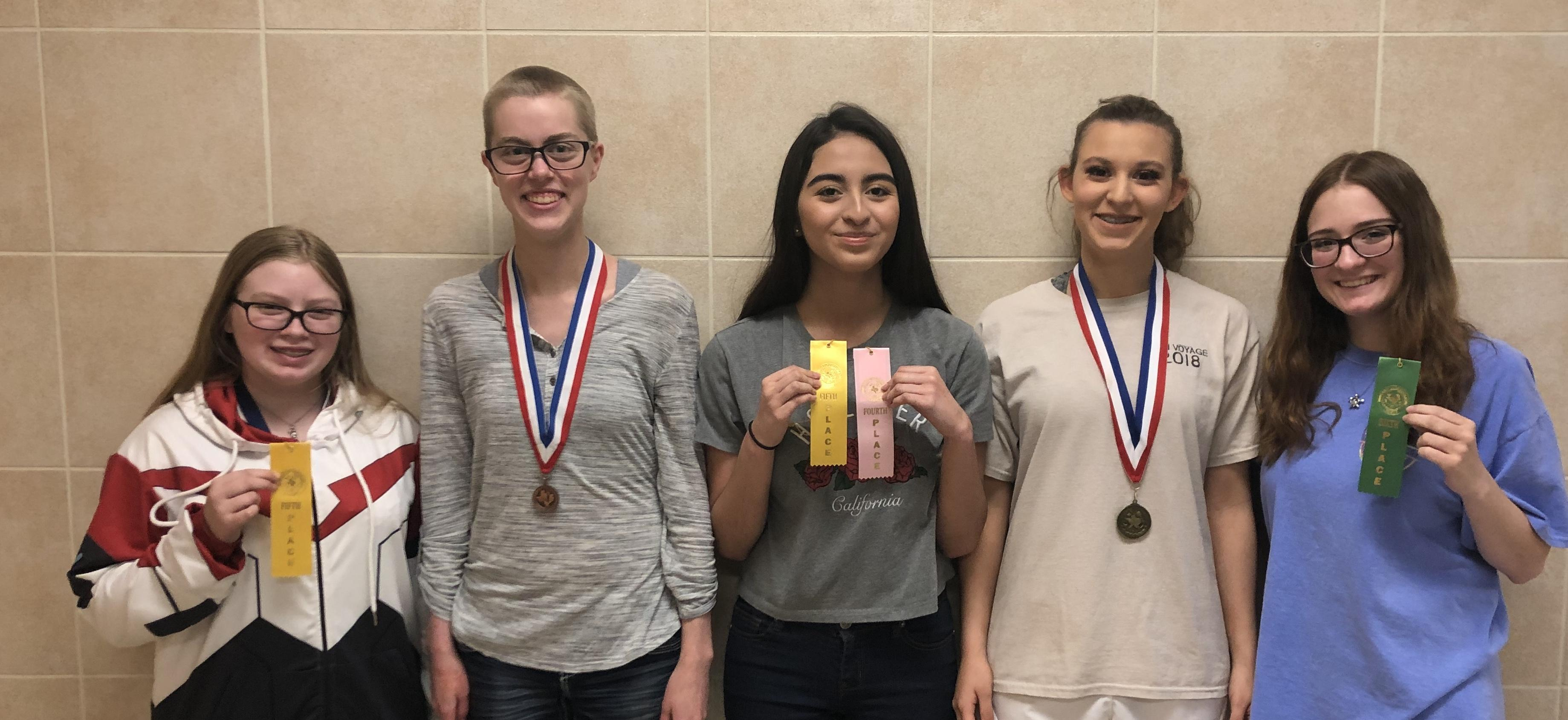 Brewer High School students recently competed in the District UIL Academic Competition in speech and debate, and three will advance to regionals at Texas Tech University, six as alternates.