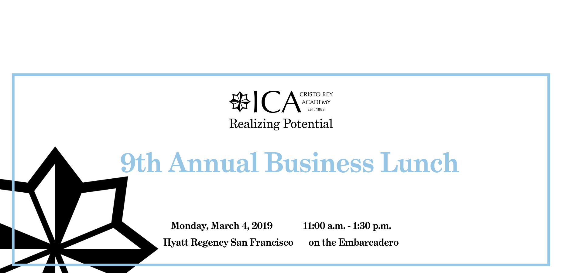 ad for 9th annual business lunch