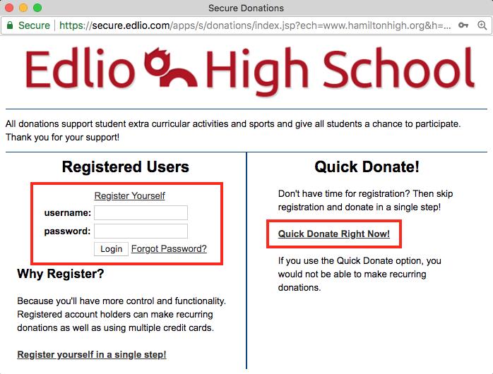 register or quick donate