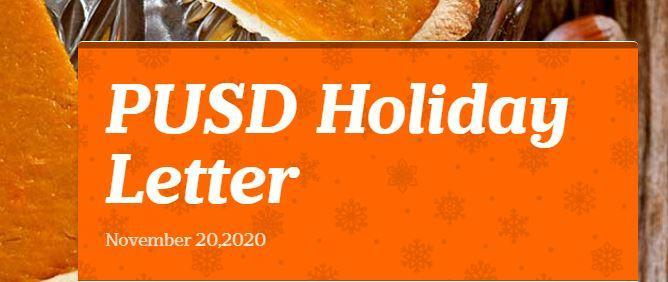PUSD Holiday Letter