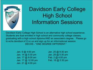 DECHS Information Sessions