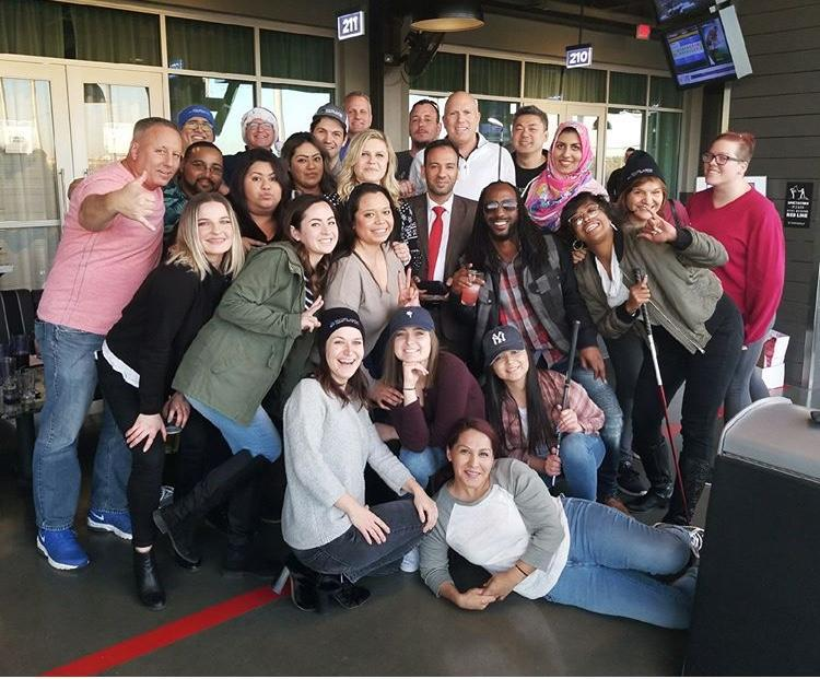 Staff Meeting at Topgolf