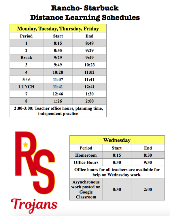 Asynchronous Wednesday schedule