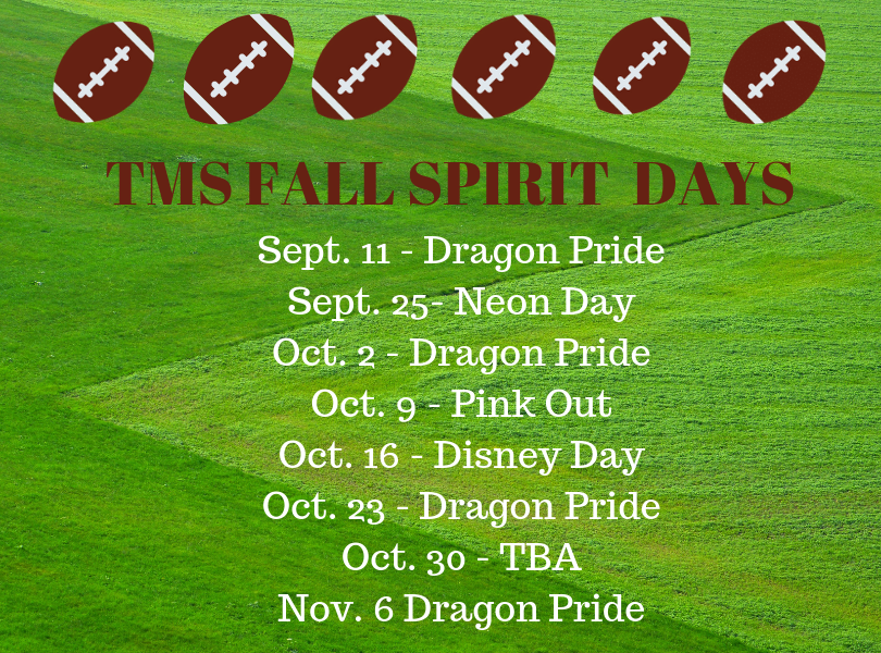 TMS Fall Spirit Days