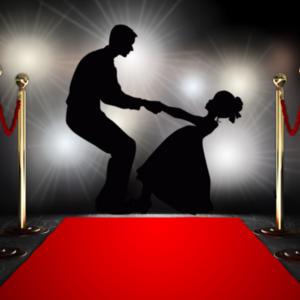 Man and girl dancing