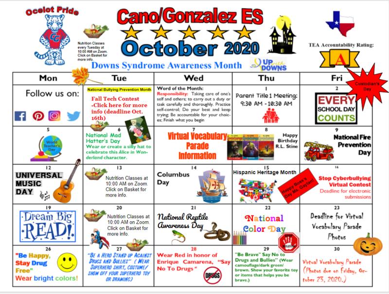 Oct. calendar