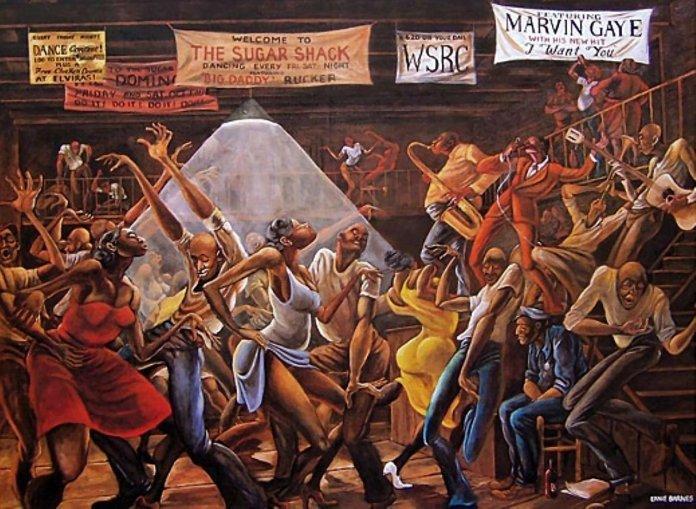 'Sugar Shack' by, Ernie Barnes