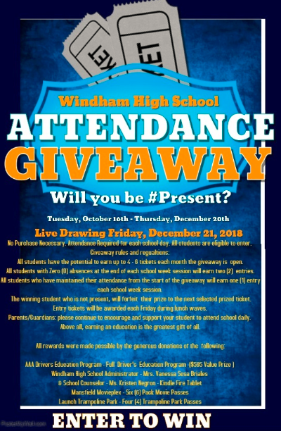 WHS Attendance Giveaway Thumbnail Image