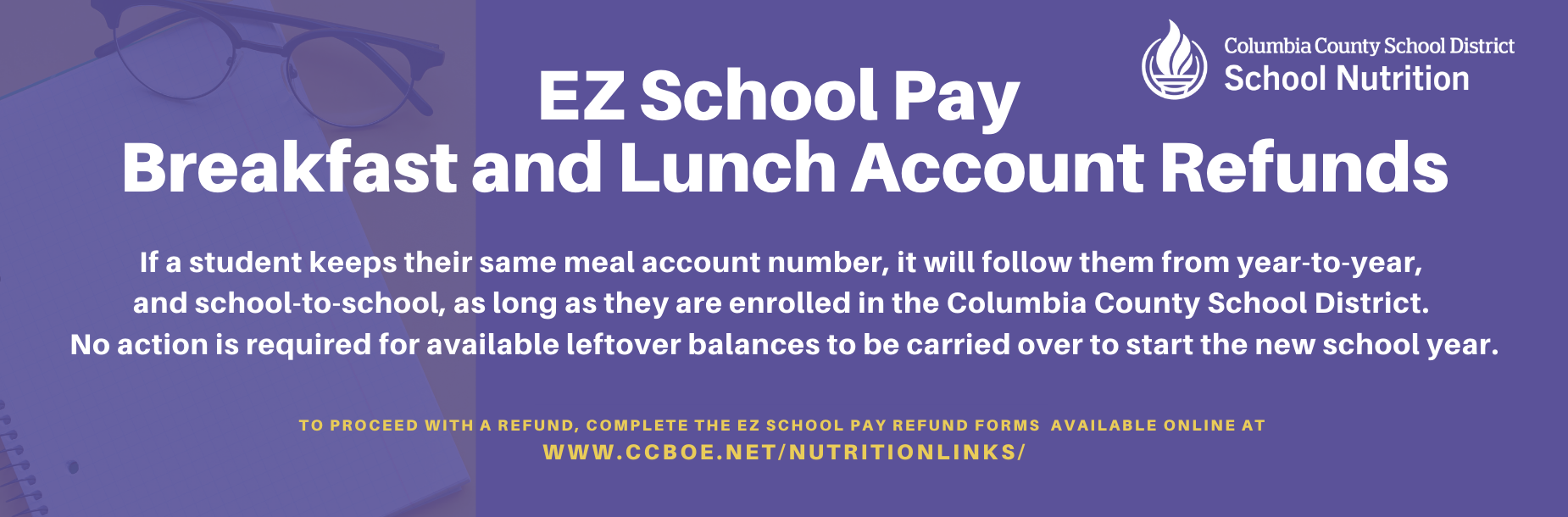 EZ School Pay Breakfast and Lunch Account Refunds