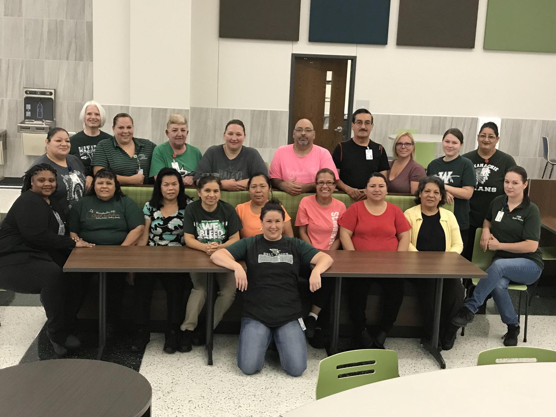 20 ladies & gentlemen of the WHS child nutrition team