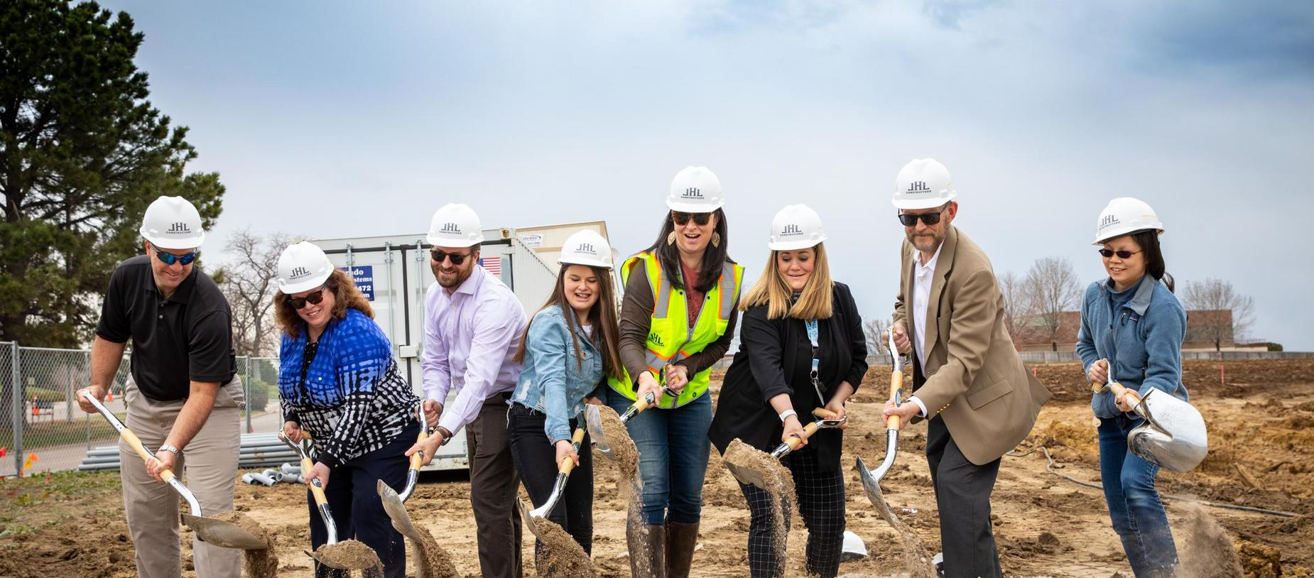 GVA Northglenn Board Members, Administration, and 5th Grade Student Madelyn C at GVA Ground Breaking Ceremony