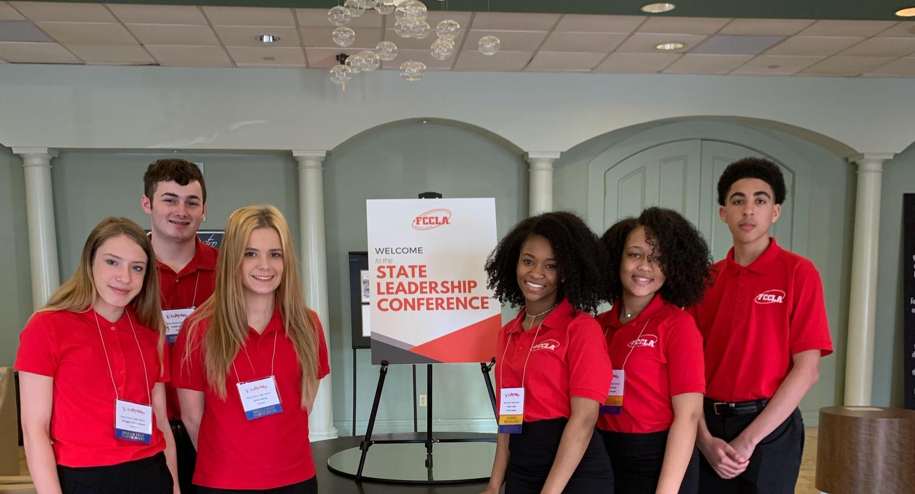 BCHS FCCLA members attended the FCCLA State Conference in Lafayette, Louisiana.    They are:  Caleb K., Janie E., Taylor L., India R., and Joshua T.